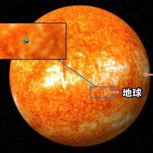太陽 地球 比較