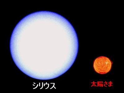 恒星比較,シリウス