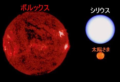 恒星比較,ポルックス