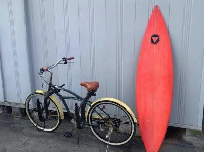自転車,サーフボード